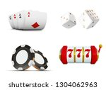 the set of vector casino... | Shutterstock .eps vector #1304062963