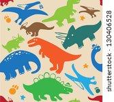 pattern dinosaurs | Shutterstock .eps vector #130406528