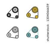 car parts  power transmission... | Shutterstock .eps vector #1304066659