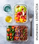 lunch box with vegetables ... | Shutterstock . vector #1304071216