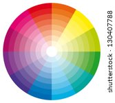 Color Wheel With Shade Of...