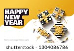 happy new year 2020 background... | Shutterstock .eps vector #1304086786