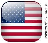 usa flag button | Shutterstock . vector #130409810