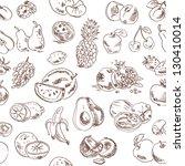 freehand drawing fruit. vector... | Shutterstock .eps vector #130410014