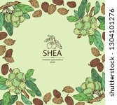 background with shea nut.... | Shutterstock .eps vector #1304101276