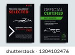 set of a4  a5 car repair... | Shutterstock .eps vector #1304102476