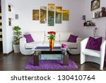 modern living room interior... | Shutterstock . vector #130410764