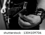 a guitar is being tuned  e...   Shutterstock . vector #1304109706