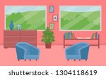 vector image of a living pink...   Shutterstock .eps vector #1304118619