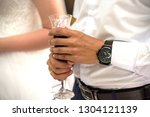 bride and groom at the wedding... | Shutterstock . vector #1304121139