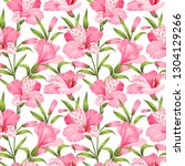 beautiful alstroemeria on...   Shutterstock .eps vector #1304129266