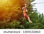 happy kid with helmet and... | Shutterstock . vector #1304132863