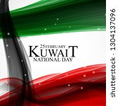 25 february  kuwait national... | Shutterstock .eps vector #1304137096