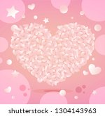 valentine's day greeting card... | Shutterstock .eps vector #1304143963