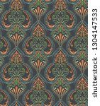 seamless classic damask... | Shutterstock . vector #1304147533
