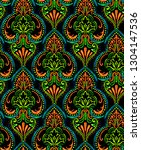 neon damask pattern  modern... | Shutterstock . vector #1304147536