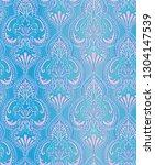seamless classic damask pattern ... | Shutterstock . vector #1304147539