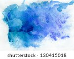 Abstract Blue Watercolor...