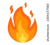 fire sign. fire flames icon... | Shutterstock .eps vector #1304157583