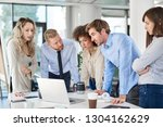 small group of business people... | Shutterstock . vector #1304162629