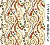 seamless pattern with belts and ...   Shutterstock .eps vector #1304163736