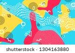 pop art color background.... | Shutterstock .eps vector #1304163880