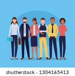 business people group | Shutterstock .eps vector #1304165413