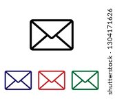 mail vector icon | Shutterstock .eps vector #1304171626
