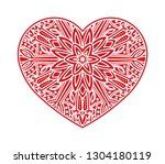 unusual ornate shape of heart... | Shutterstock .eps vector #1304180119
