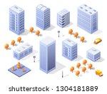 isometric illustration... | Shutterstock .eps vector #1304181889