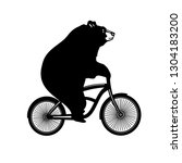 bicycle bear print | Shutterstock .eps vector #1304183200