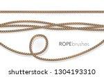 realistic fiber ropes.rope... | Shutterstock .eps vector #1304193310