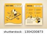 vector brochure template with... | Shutterstock .eps vector #1304200873