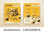 vector brochure template with... | Shutterstock .eps vector #1304200876