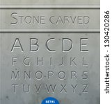 stone carved alphabet | Shutterstock .eps vector #130420286