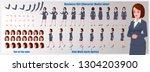 business woman character model... | Shutterstock .eps vector #1304203900