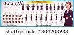 business woman character model... | Shutterstock .eps vector #1304203933