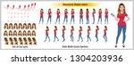 business woman character model... | Shutterstock .eps vector #1304203936