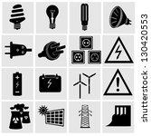 electricity and energy icon set.... | Shutterstock .eps vector #130420553