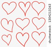 heart icons  hearts set  heart... | Shutterstock .eps vector #1304213263