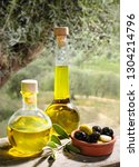 organic olive oil in a... | Shutterstock . vector #1304214796