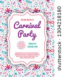 multicolored carnaval party... | Shutterstock .eps vector #1304218180