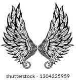 pair of  angel wings | Shutterstock .eps vector #1304225959
