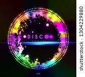 disco party vector banner... | Shutterstock .eps vector #1304229880