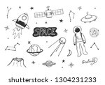 vector illustration of cosmic... | Shutterstock .eps vector #1304231233