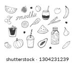 vector illustration of smoothie ... | Shutterstock .eps vector #1304231239