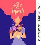 vector happy 8 march... | Shutterstock .eps vector #1304231470