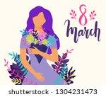 vector happy 8 march... | Shutterstock .eps vector #1304231473