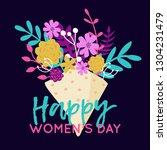 vector happy 8 march... | Shutterstock .eps vector #1304231479