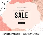 sale banner template design.... | Shutterstock .eps vector #1304240959